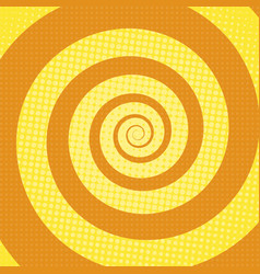 spiral rays pop art retro background vector image