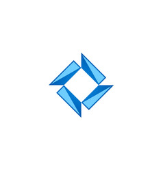 square geometry construction technology logo vector image