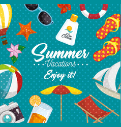 summer beach design vector image