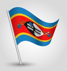Swazi flag on pole vector