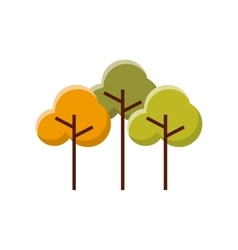 Trees forest field landscape vector