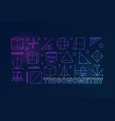 Trigonometry colorful or vector