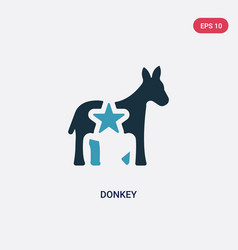 Two color donkey icon from united states concept vector