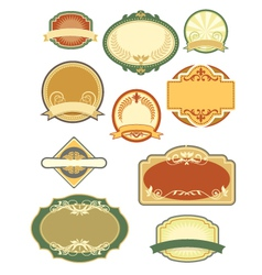 vintage labels set 1 vector image
