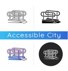 Wheelchair ramp icon vector