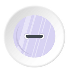 White clothing button icon circle vector