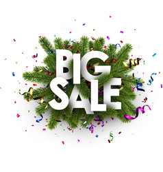 white festive big sale sign vector image