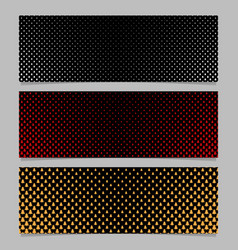 winter pine tree pattern banner template set vector image