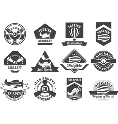aviation badges vector image