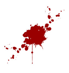 blood splatter isolated design vector image vector image
