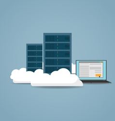 Cloud datacenter setting vector image vector image