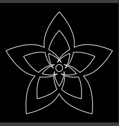 flower the white path icon vector image