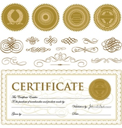 Formal Certificate Template vector image vector image