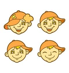 Funny boy vector image