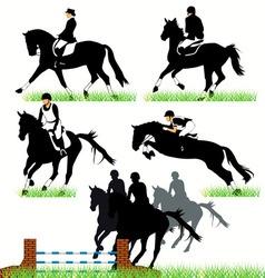 Jockeys set02 vector