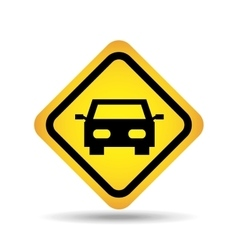 traffic sign concept icon car vector image vector image