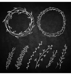 Two wreaths vector