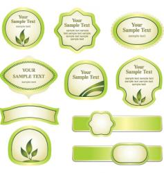 various labels text vector image vector image