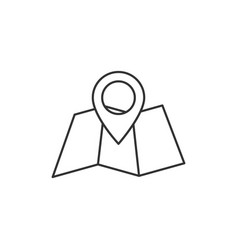 folded map outline icon vector image