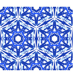 kaleidoscopic pattern blue star flower vector image vector image