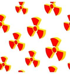 Radiation sign background vector image