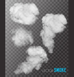transparent set of smoke vector image