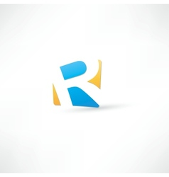 Abstract icon based on the letter vector image