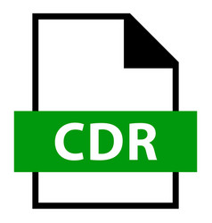 file name extension cdr type vector image