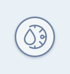 Humidity icon in linear style round pictogram vector