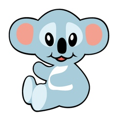 simple childish koala vector image vector image