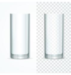 Transparent Glass Set vector image vector image