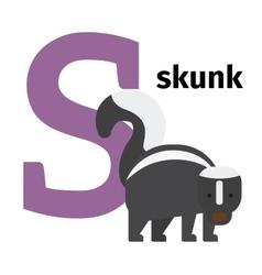English animals zoo alphabet letter S vector image