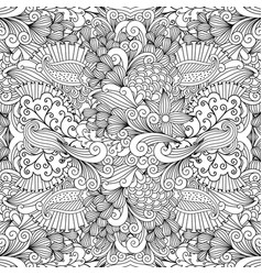 floral zentangle pattern for wedding invitation vector image