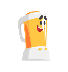 funny kitchen blender character with smiling face vector image vector image