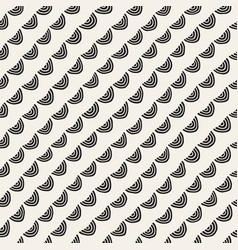 monochrome minimalistic seamless pattern with arcs vector image vector image
