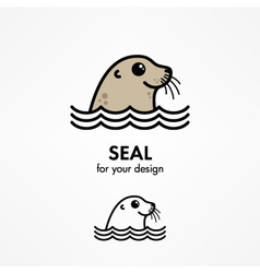 Seal head vector image vector image