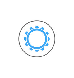 Settings solid icon mobile sign and cogwheel vector