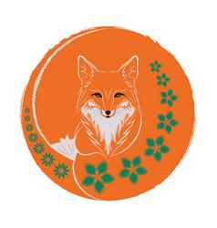 A red fox vector