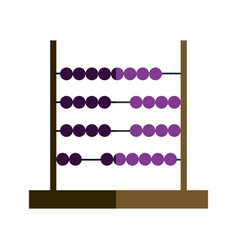 Abacus school educate calculation tool vector