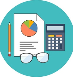 Accounting concept Flat design Icon in turquoise vector image
