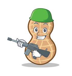 Army peanut character cartoon style vector