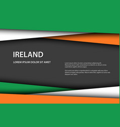 background with irish colors vector image