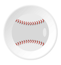 ball for playing baseball icon circle vector image