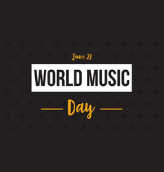 Banner style world music day flat vector