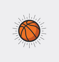 basketball with sunburst vector image