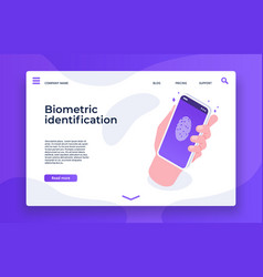biometric identification finger print security vector image