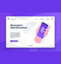 Biometric identification finger print security vector
