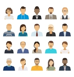 Business people flat avatars vector