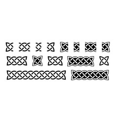 celtic borders and knots traditional celtic vector image