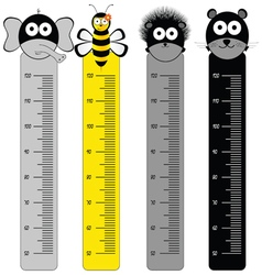 children meter wall with animal vector image